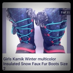 Vintage kids kamik insulated snow boots